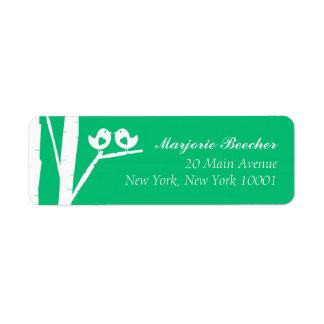 Verde de Seaglass das etiquetas de endereço dos