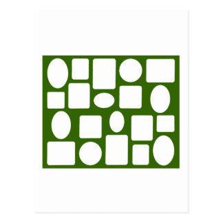 Verde DK da paisagem da moldura para retrato o Cartão Postal