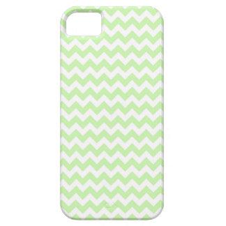 Verde do aipo, teste padrão de ziguezague branco capa para iPhone 5