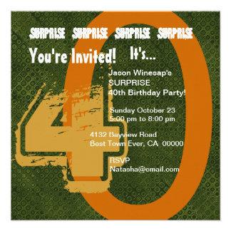 Verde do aniversário de 30 anos do Grunge da SURPR Convite