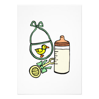 verde do babador do chocalho da garrafa