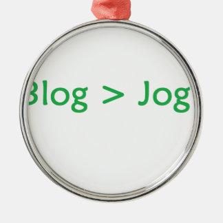 verde do blogue ornamento redondo cor prata