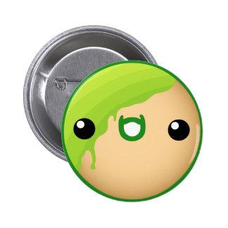 Verde do botão da rosquinha bóton redondo 5.08cm