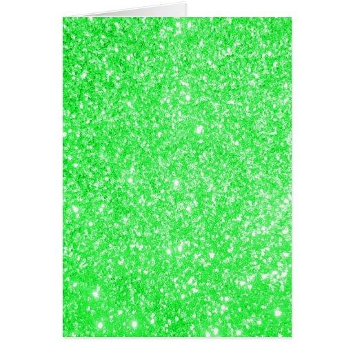 Verde do brilho cartões