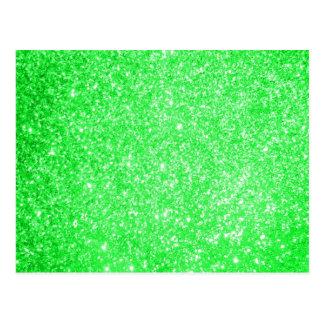 Verde do brilho cartão postal