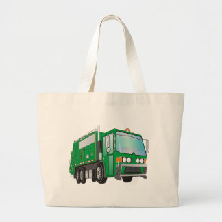 verde do caminhão de lixo 3d sacola tote jumbo