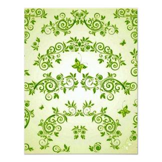 verde do caracol do em dos formas de COM do padrão Convite Personalizado
