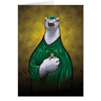 Verde do cartão da graduação do urso polar