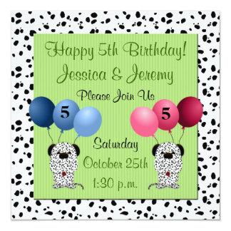 Verde do convite de aniversário dos gêmeos 5o