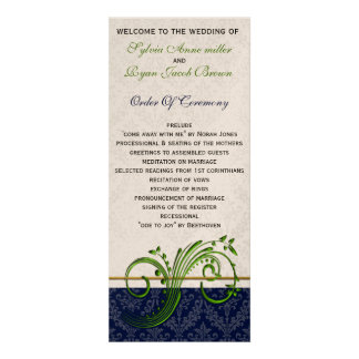 verde do damasco e programa do casamento do marinh convites