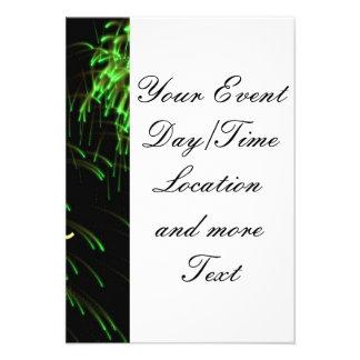 verde do feliz ano novo convite