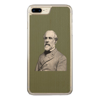 Verde do general Robert E. Lee Exército Capa iPhone 8 Plus/ 7 Plus Carved