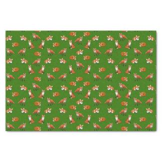 Verde do lenço de papel da família do Fox vermelho