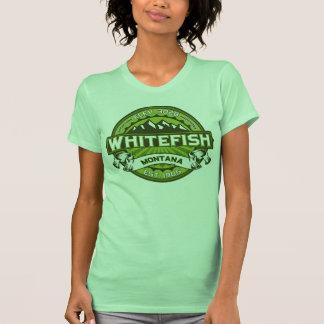 Verde do logotipo do peixe branco tshirts