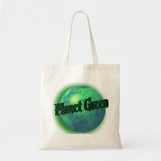 Verde do planeta sacola tote budget