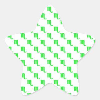 Verde do teste padrão da Escorpião Adesito Estrela