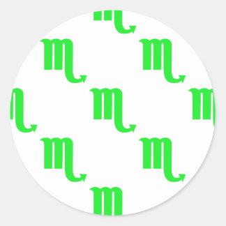Verde do teste padrão da Escorpião Adesivo