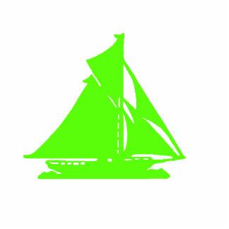 Verde do veleiro dos enfeites de natal escultura de foto