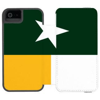 Verde e bandeira de Texas do ouro