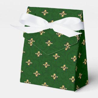 Verde e caixa do favor da barraca do ouro
