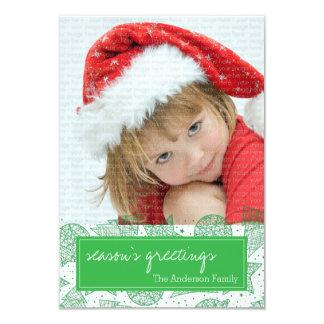 Verde e cartão com fotos do feriado do White Convites