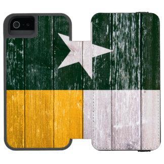 Verde e madeira pintada velha da bandeira de Texas