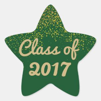 Verde e modelo da etiqueta da graduação da estrela