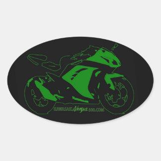 Verde e preto ovais da etiqueta do fórum da adesivo oval