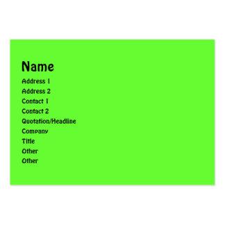 Verde e roxo listra o quadro da foto cartão de visita grande
