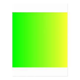 Verde elétrico a VerticalGradient amarelo elétrico Cartão Postal