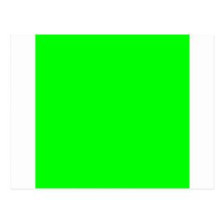 Verde elétrico cartão postal