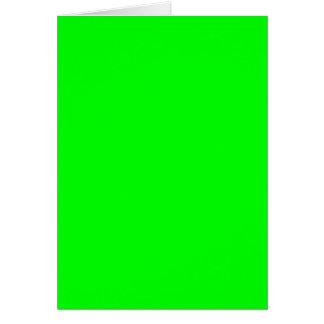 (~ VERDE ELÉTRICO de uma cor de electrificação Cartão Comemorativo