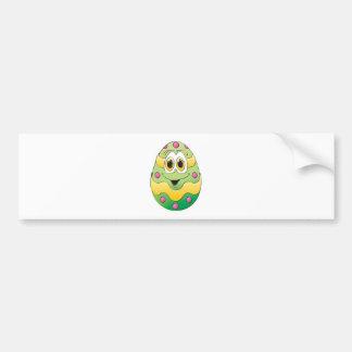 Verde engraçado do ovo da páscoa adesivo para carro