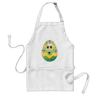 Verde engraçado do ovo da páscoa avental