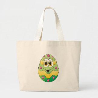 Verde engraçado do ovo da páscoa bolsas de lona