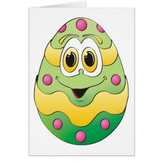 Verde engraçado do ovo da páscoa cartoes