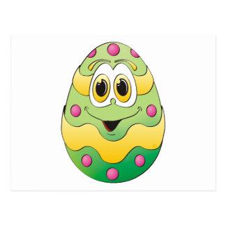 Verde engraçado do ovo da páscoa cartão postal