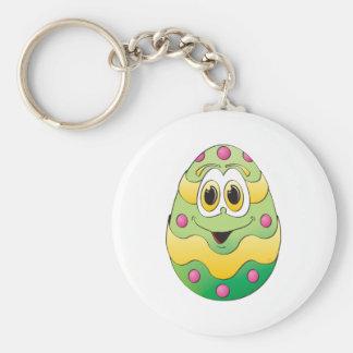 Verde engraçado do ovo da páscoa chaveiros