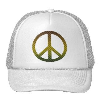 Verde escuro do símbolo de paz e amarelo listrados bone