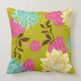 Verde esmeralda do design floral do Chinoiserie Almofada
