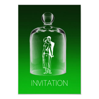 Verde esmeralda Ombre do 20o partido retro da Convite 8.89 X 12.7cm