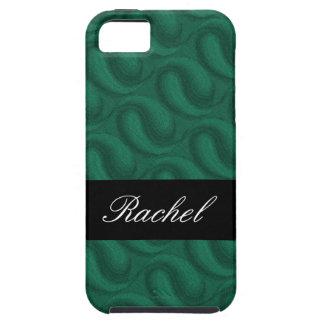 Verde esmeralda personalizado capa tough para iPhone 5
