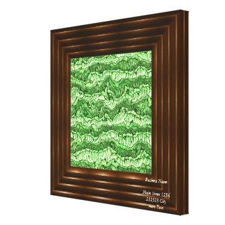verde estrangeiro da pele impressão em tela