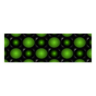 Verde esverdeado do design do tabuleiro de xadrez  cartão de visita skinny
