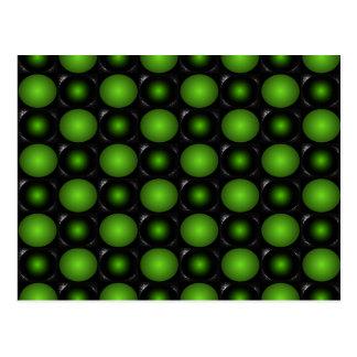 Verde esverdeado do design do tabuleiro de xadrez  cartões postais