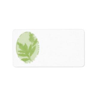 Verde, etiquetas de endereço temáticos da natureza etiqueta de endereço