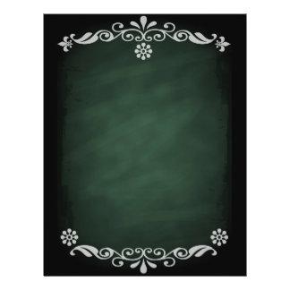 Verde floral do esboço do quadro-negro panfleto coloridos