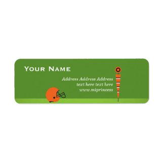 verde, futebol, etiquetas de endereço do remetente