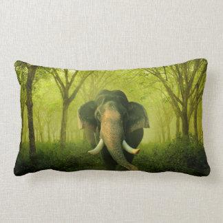 Verde impressionante do mamífero do elefante almofada lombar