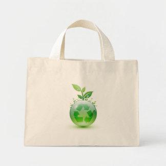 Verde indo bolsa tote mini